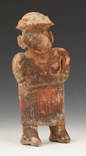 "Pre-Columbian Nayarit Pottery Figure, Ht. 9"""