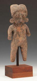 "Pre-Columbian Michoacan Pottery Figure, Ht. 9"""