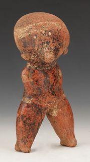 "Pre-Columbian Chinesco Pottery Standing Figure, Ht. 6.5"""