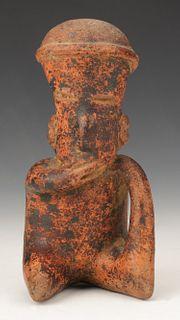 "Pre-Columbian Nayarit Pottery Figure, Ht. 6.75"""