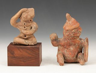 Two Pre-Columbian Nayarit Pottery Figures