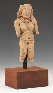 "Pre-Columbian Michoacan Pottery Figure, Ht. 5.5"""