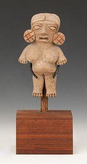 "Pre-Columbian Michoacan Pottery Figure, Ht. 4.5"""