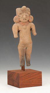 "Pre-Columbian Michoacan Pottery Figure, Ht. 7"""