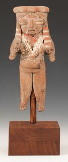 Pre-Columbian Michoacan Pottery Figure, Ht. 6.5""