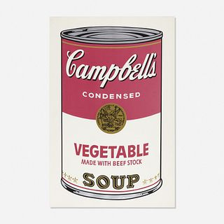 Andy Warhol, Vegetable Soup Can from Campbell's Soup I