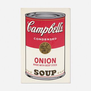 Andy Warhol, Onion Soup Can from Campbell's Soup I