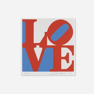 Robert Indiana, LOVE (red version from the Book of Love)