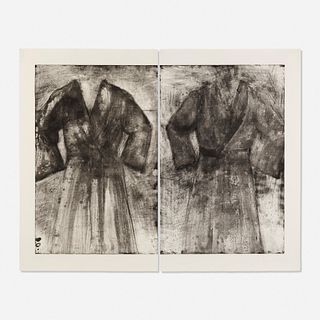 Jim Dine, 2 Robes (Fern's, Acid and Water) (diptych)