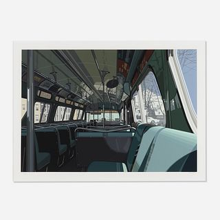 Richard Estes, Bus from Urban Landscapes III