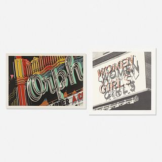 Robert Cottingham, Orph from Documenta: The Super Realists and Women Girls (two works)