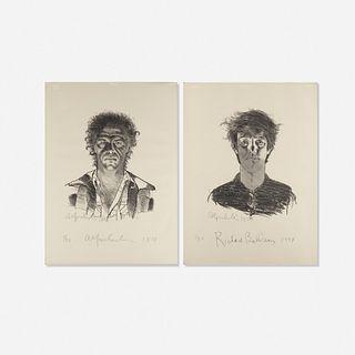 Alfred Leslie, Alfred Leslie and Richard Bellamy (two works)