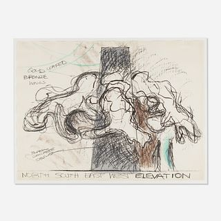 Lynda Benglis, North South East West Elevation (Study for Sculpture)