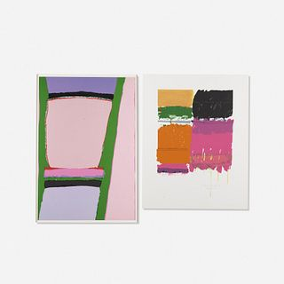 Ida Kohlmeyer, Layered Landscape and Two Totems in Gay Colors (two works)