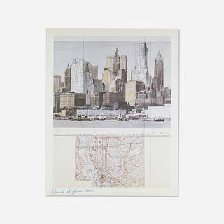 Christo and Jeanne-Claude, Two Lower Manhattan Wrapped Buildings, Project for New York City