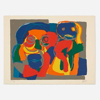 Karel Appel, Deux Figures