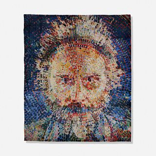 Chuck Close, Lucas/Rug (unapproved color variant)