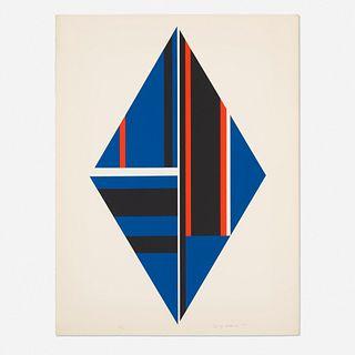 Ilya Bolotowsky, Blue Diamond from 1776 USA 1976 Bicentennial Prints