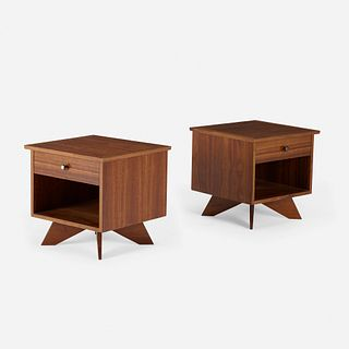 George Nakashima, Origins nightstands model 215, pair