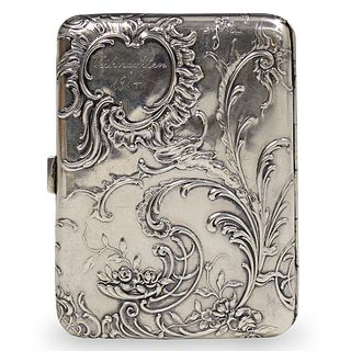 German 800 Silver Art Nouveau Cigarette Case
