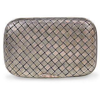 Russian Basket Weave Silver Box