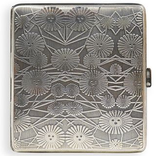 German Sterling Silver Cigarette Case