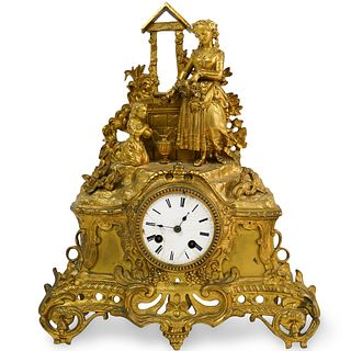 Japy Freres Figural Gilt Bronze Clock