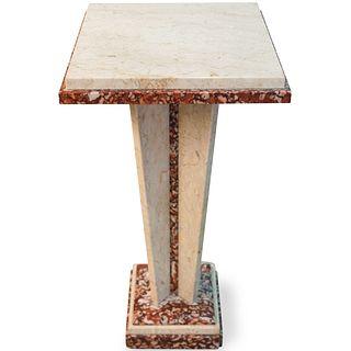 Art Deco Style White Marble Pedestal