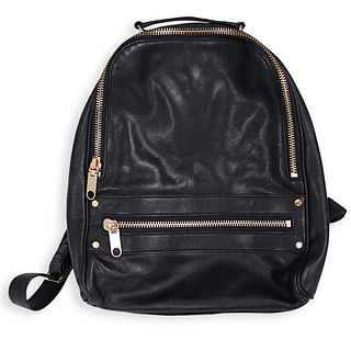 Milly Black Leather Backpack