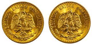 Mexico: 2 Pesos Gold Coins