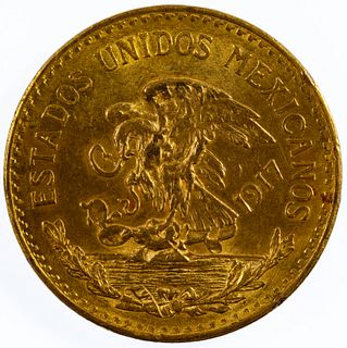 Mexico: 1917 20 Pesos Gold
