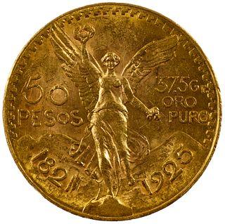 Mexico: 1925 50 Pesos Gold Coin