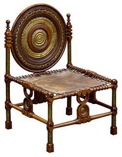Carlo Bugatti (Italian, 1856-1940) Chair