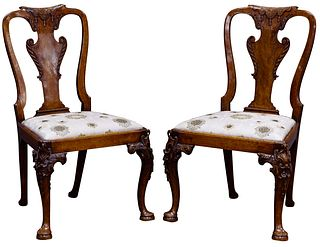 English George I Walnut Side Chairs