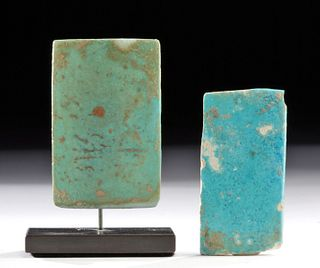Egyptian Old Kingdom Glazed Faience Tiles (pr)