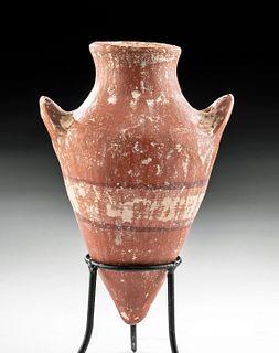 Rare Egyptian Middle Kingdom Polychrome Amphoriskos