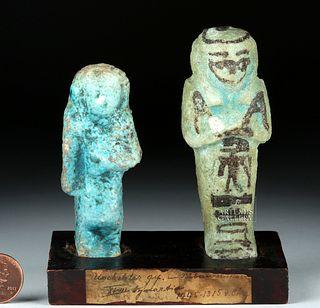 Egyptian 18th Dynasty Faience Ushabtis (2)