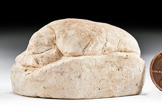 Egyptian Late / Ptolemaic Limestone Heart Scarab