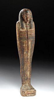 Egyptian Painted Gesso / Wood Ptah Sokar Osiris Figure