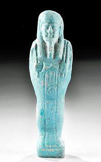 Egyptian Glazed Faience Ushabti w/ Inscription