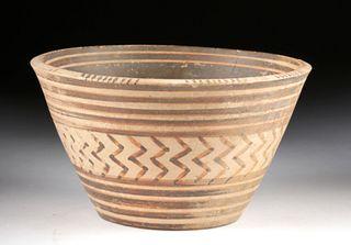Fine Greek Mycenaean Bi-Chrome Pottery Bowl
