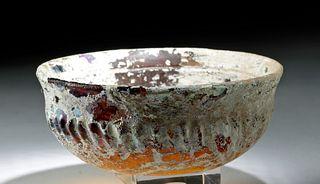 Roman Glass Bowl - Pearlescent Iridescence