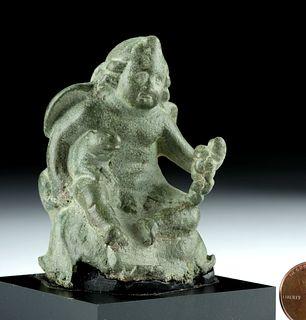 Roman Leaded Bronze Steelyard Weight - Cherub Form