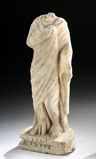 Roman Marble Statue of a Draped Female
