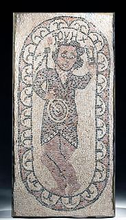 Roman Stone Mosaic of Saint