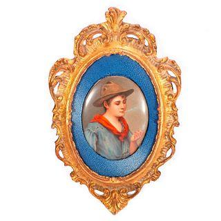 Porcelain Painted Portrait Plaque