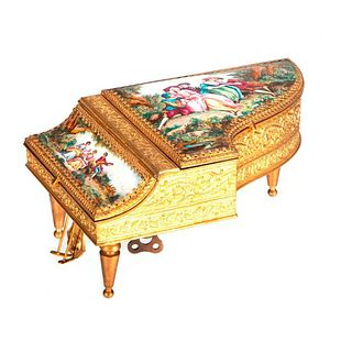 Piano Music Box Fitted as Jewelry Box.
