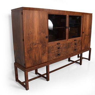 Bruno Paul Rosewood Cabinet Deutsche for WerkstÌÎ_tten Hellerau GmbH, Art Deco