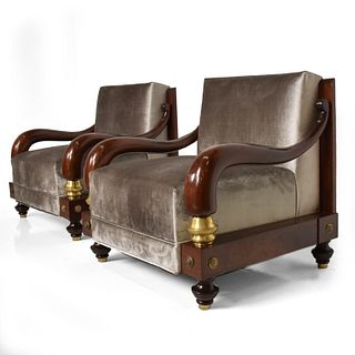 Pair of Armchairs by Octavio Vidales Midcentury Mexican Modernism