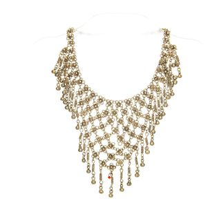 VINTAGE 800 SILVER NEOCLASSICAL CHOKER CHAIN NECKLACE
